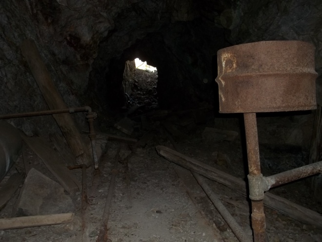 Equipment Residing Inside the Entrance of the Mine