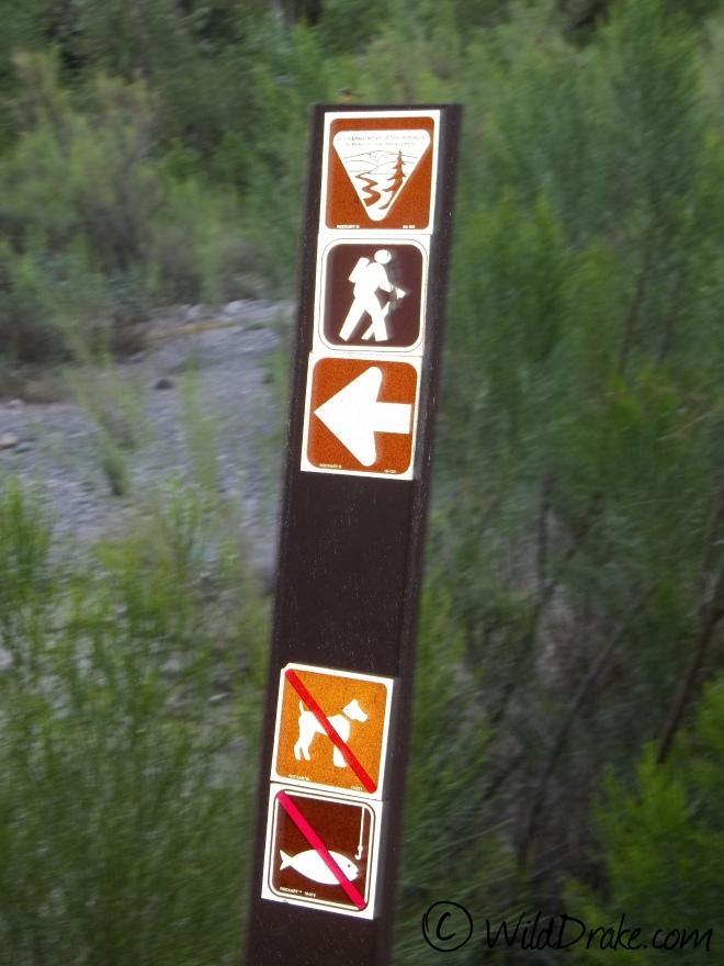 Carsonite Trailhead Sign